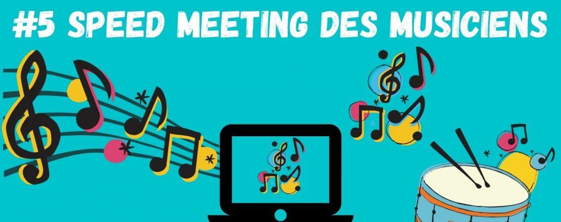 #5ème Speed Meeting des Musiciens - image d'illustration avec des notes de musiques